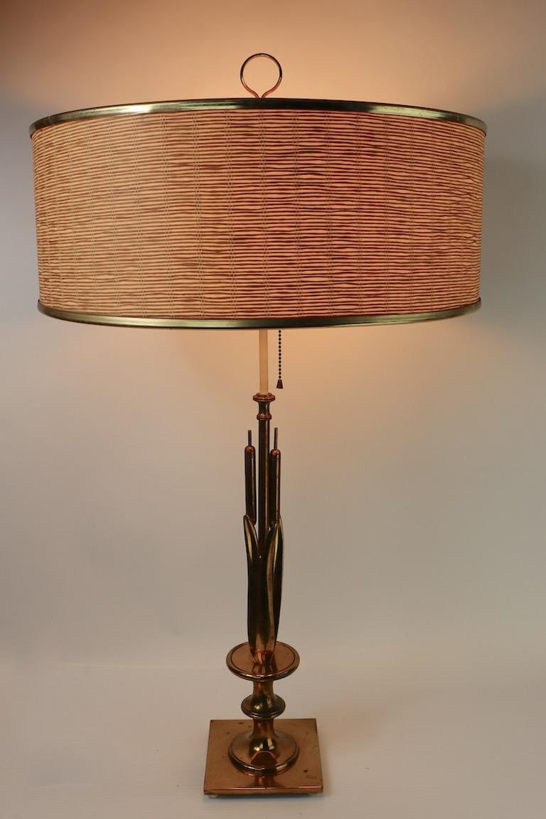 Mid Century Cattail Table Lamp For Sale 3