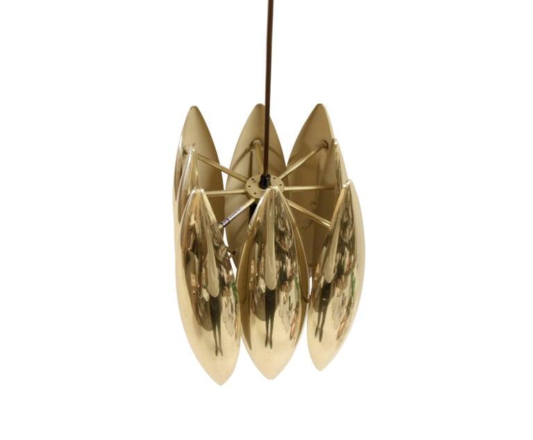 Danish Midcentury Ceiling Light in Brass by Jo Hammerborg for Fog & Mørup, 1960s For Sale