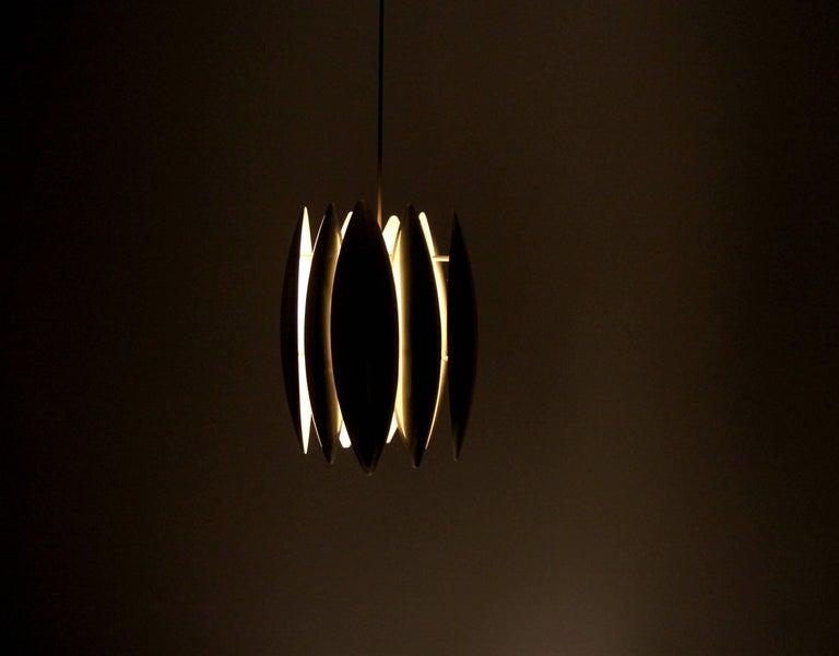 Mid-20th Century Midcentury Ceiling Light in Brass by Jo Hammerborg for Fog & Mørup, 1960s For Sale