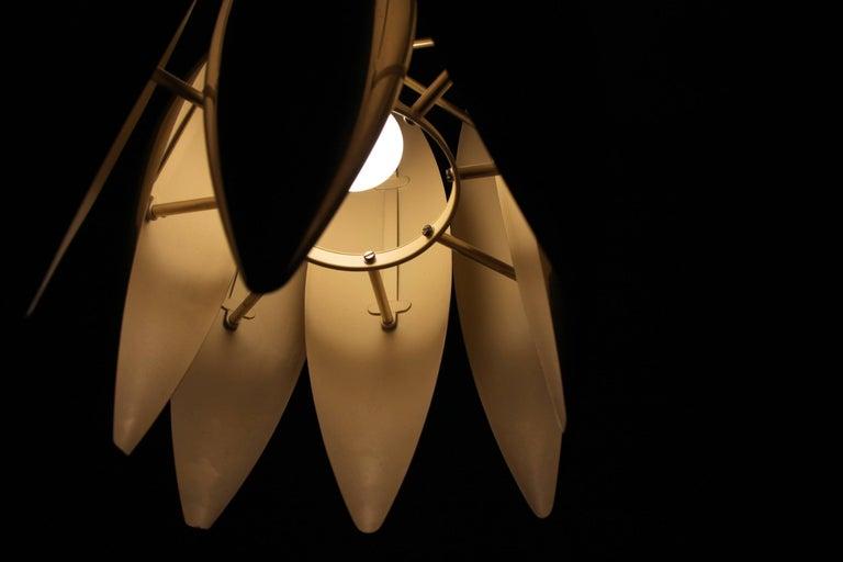 Midcentury Ceiling Light in Brass by Jo Hammerborg for Fog & Mørup, 1960s For Sale 1