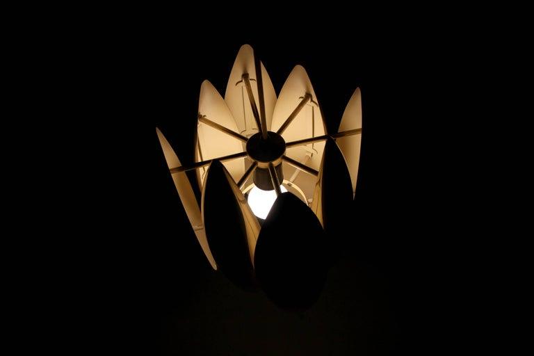 Midcentury Ceiling Light in Brass by Jo Hammerborg for Fog & Mørup, 1960s For Sale 2
