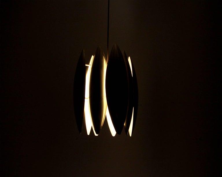 Midcentury Ceiling Light in Brass by Jo Hammerborg for Fog & Mørup, 1960s For Sale 3