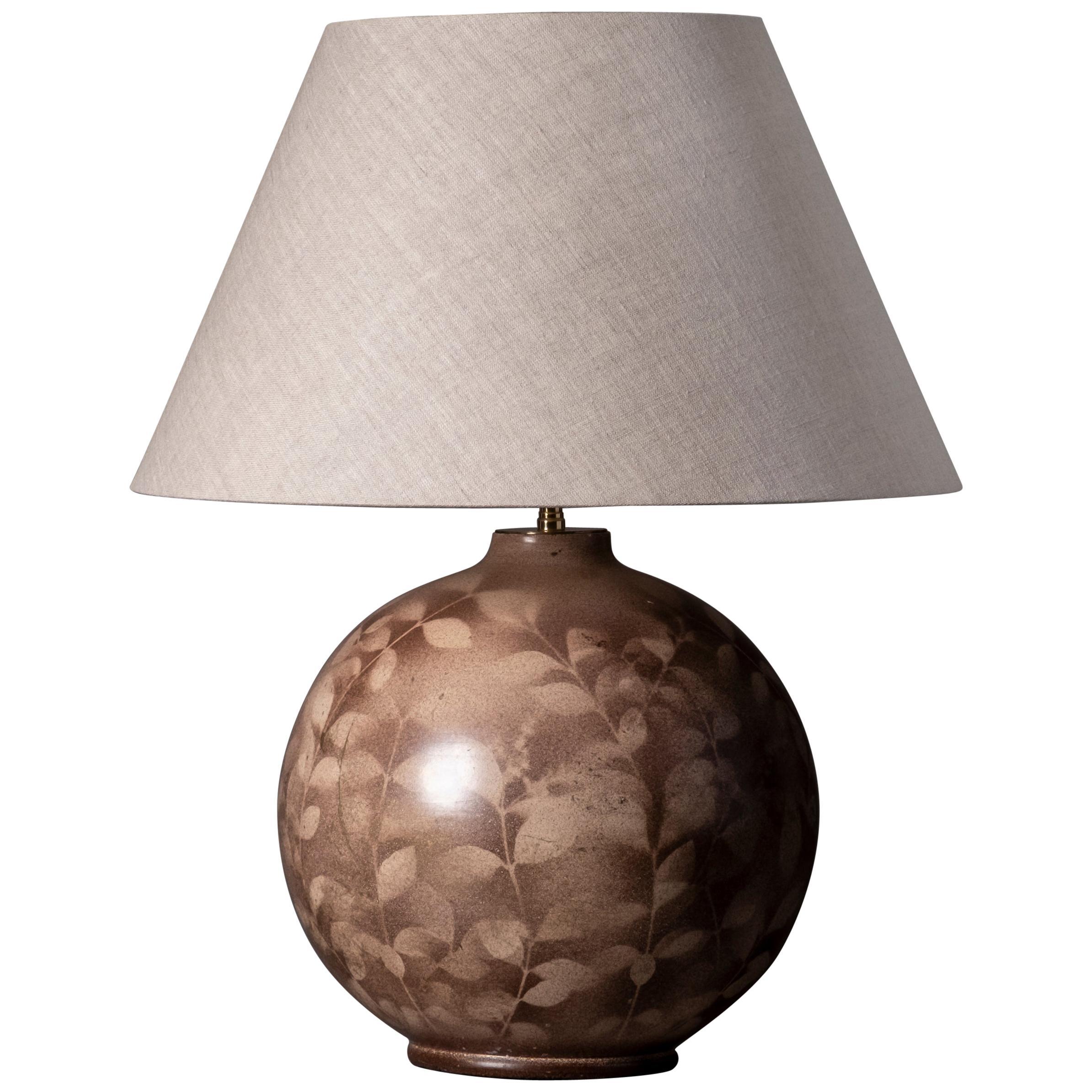 Midcentury Century Bulbous Art Vase Lamp