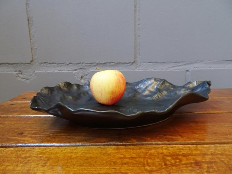 Midcentury Ceramic Bowl Signed by Pol Chambost, France, 1960 In Good Condition For Sale In Saarbruecken, DE