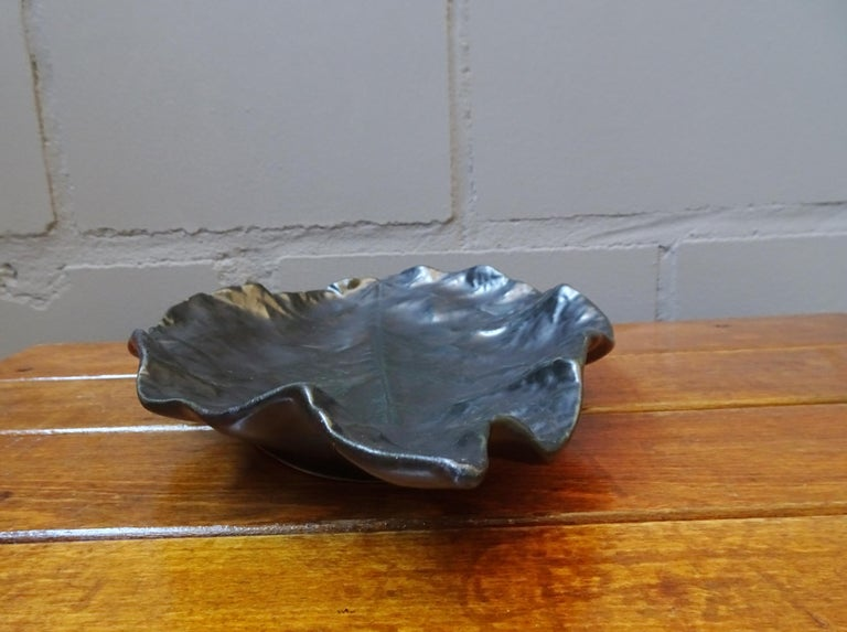 Midcentury Ceramic Bowl Signed by Pol Chambost, France, 1960 For Sale 2