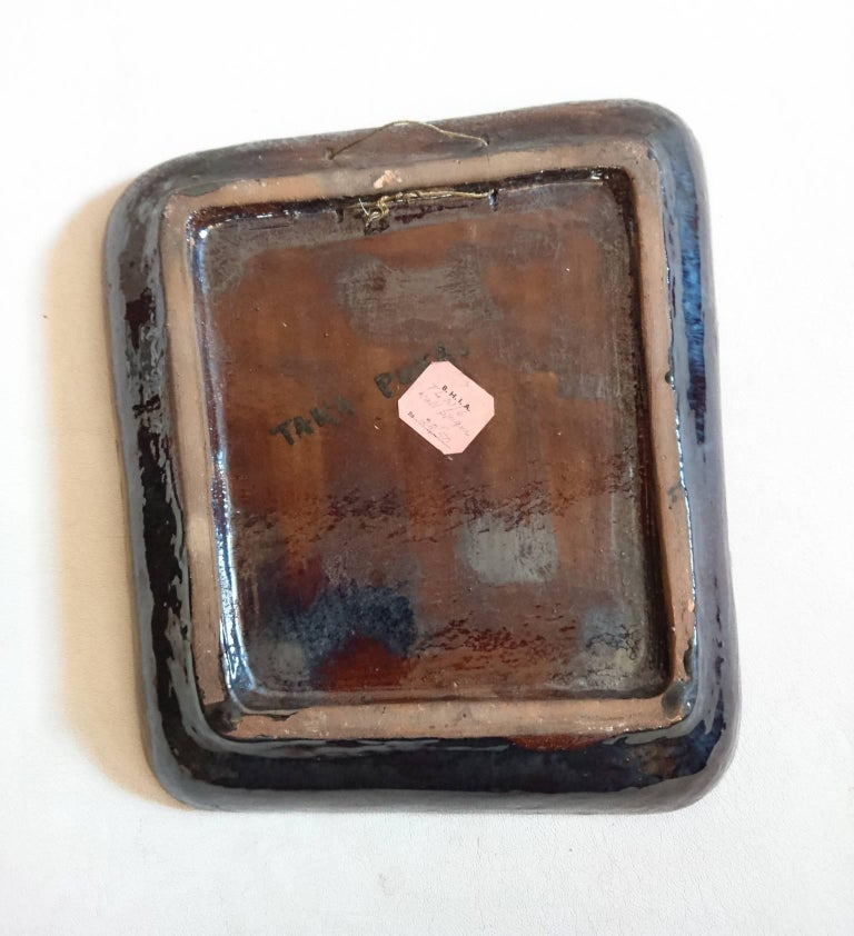 Unknown Midcentury Ceramic Charger Bowl Studio Work For Sale
