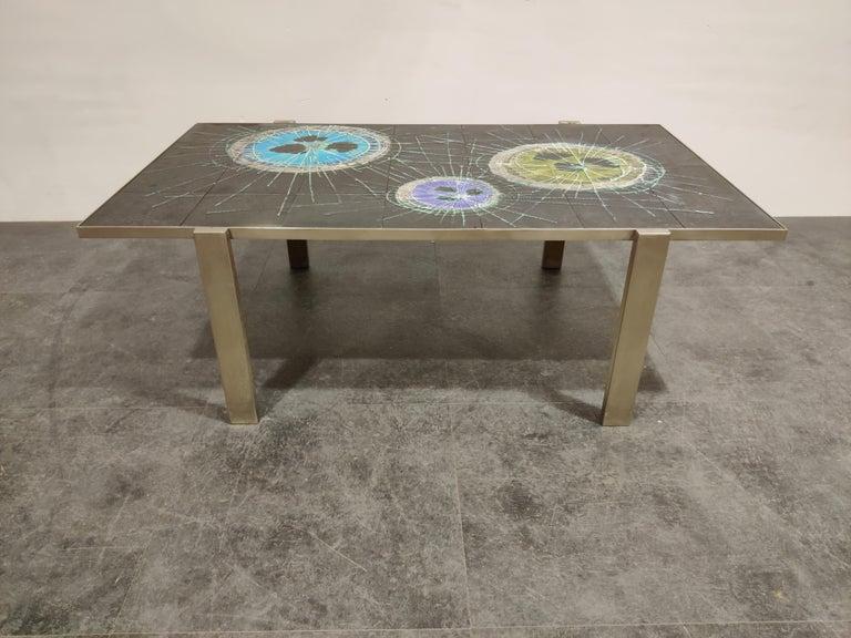 Mid-Century Modern Midcentury Ceramic Coffee Table by Juliette Belarti, 1960s For Sale