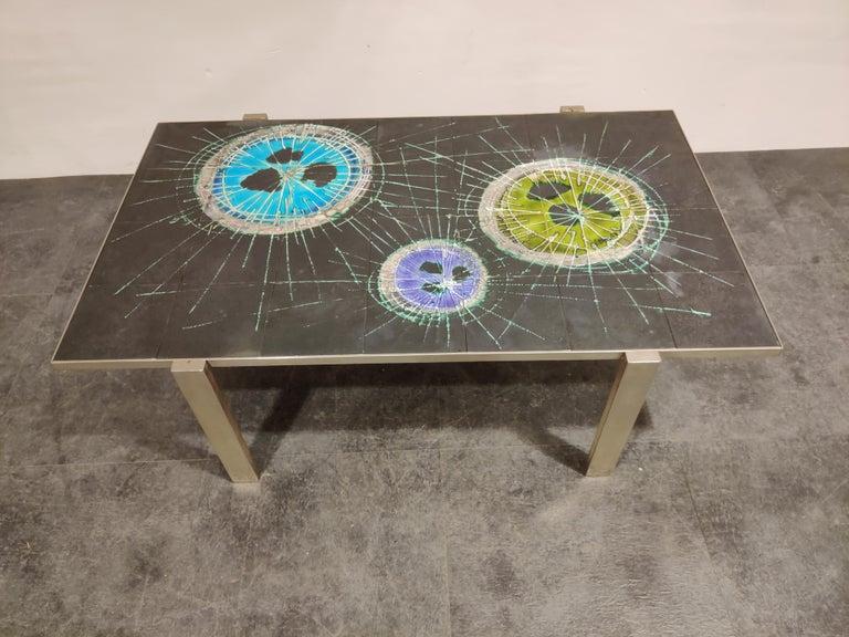 Belgian Midcentury Ceramic Coffee Table by Juliette Belarti, 1960s For Sale