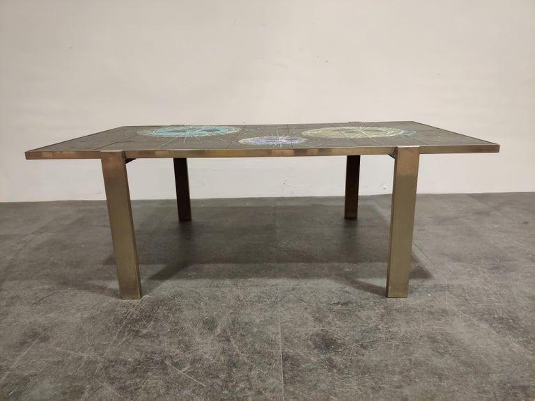 Midcentury Ceramic Coffee Table by Juliette Belarti, 1960s In Good Condition For Sale In Ottenburg, BE