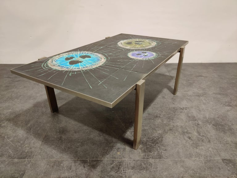 Mid-20th Century Midcentury Ceramic Coffee Table by Juliette Belarti, 1960s For Sale