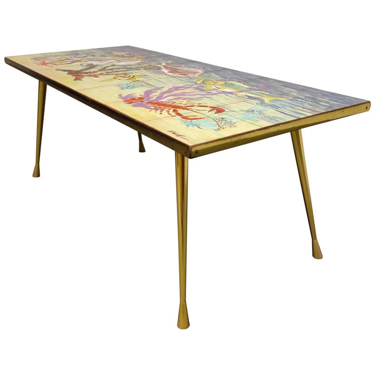 Midcentury Ceramic Coffee Table by Sigis, 1960s For Sale