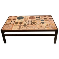 Midcentury Ceramic Coffee Table by Tue Poulsen and Erik Wortz