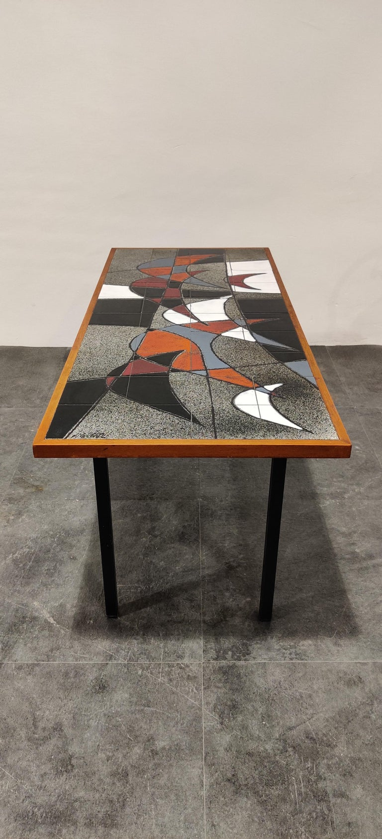Midcentury Ceramic Coffee Table by Vigneron, 1960s For Sale 4