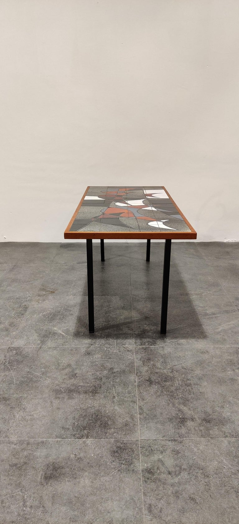 Midcentury Ceramic Coffee Table by Vigneron, 1960s For Sale 5