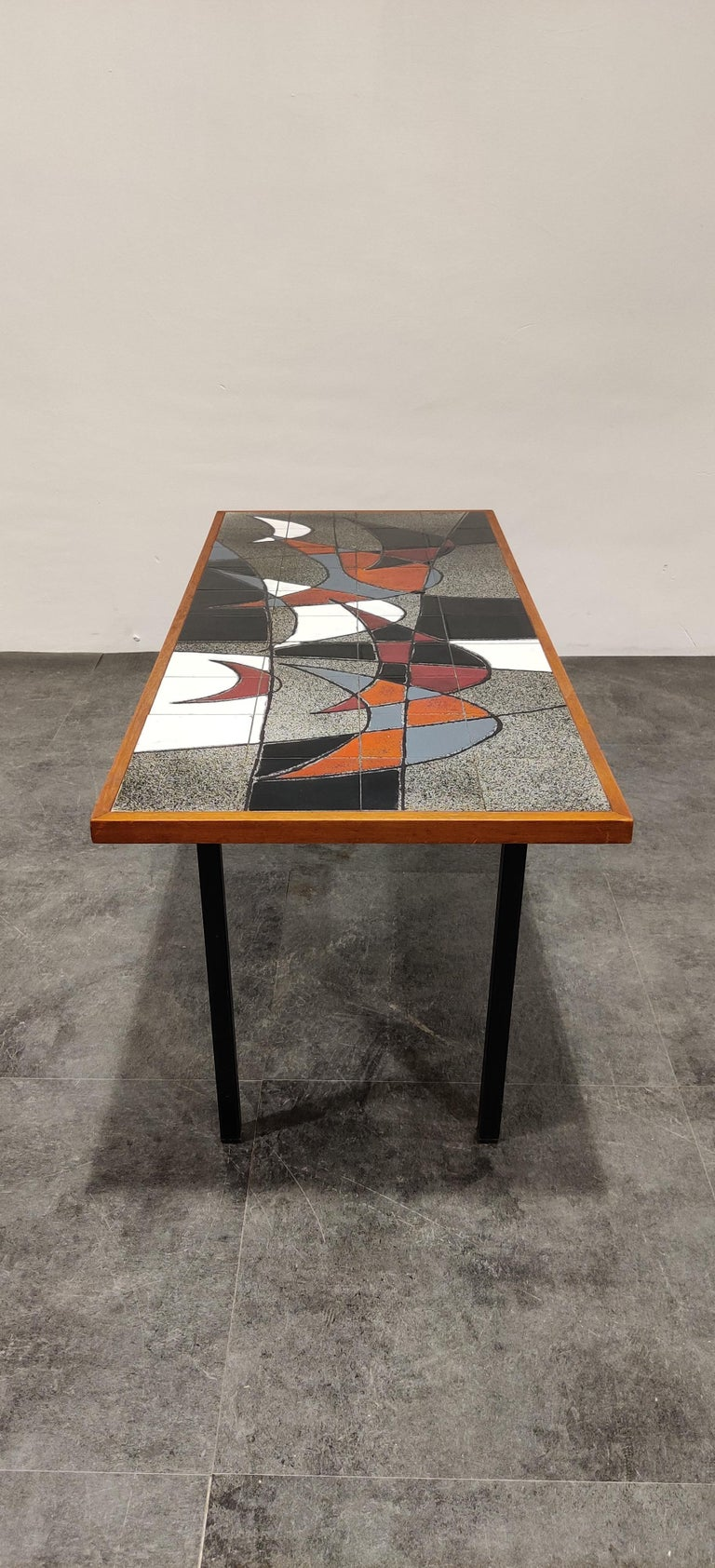 Belgian Midcentury Ceramic Coffee Table by Vigneron, 1960s For Sale