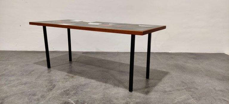 Midcentury Ceramic Coffee Table by Vigneron, 1960s For Sale 3