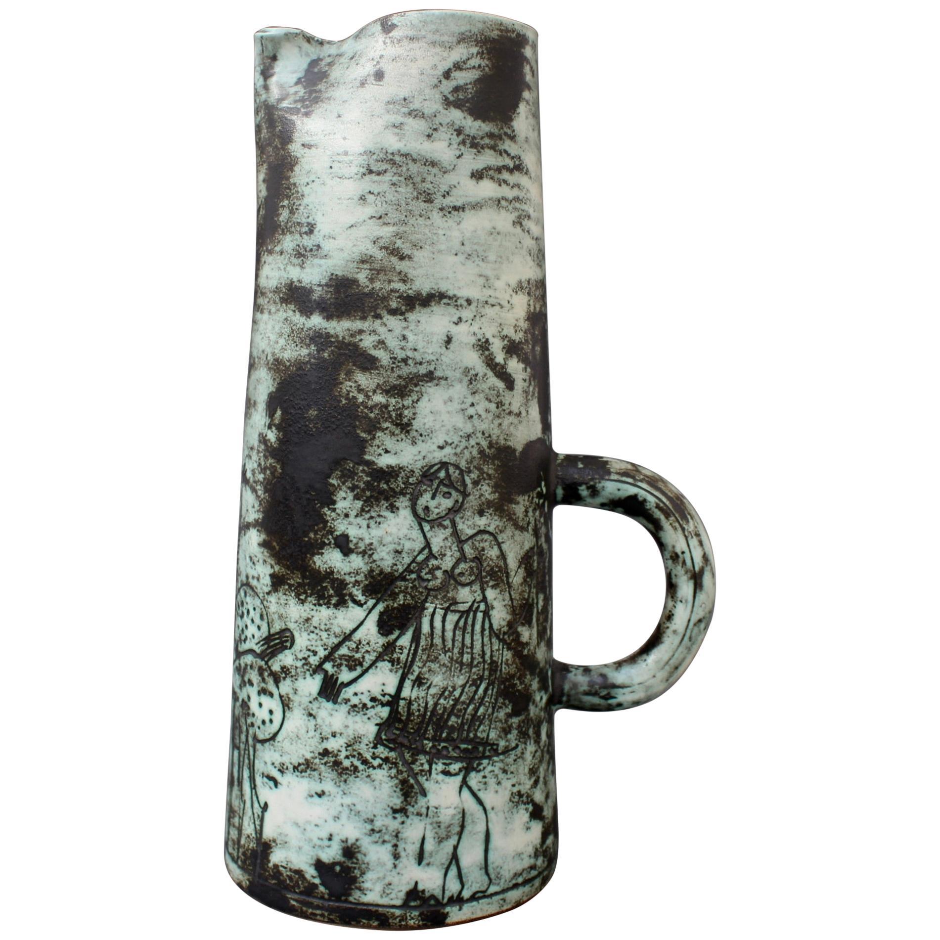 Mid-Century Ceramic Decorative Pitcher / Vase by Jacques Blin 'circa 1950s'