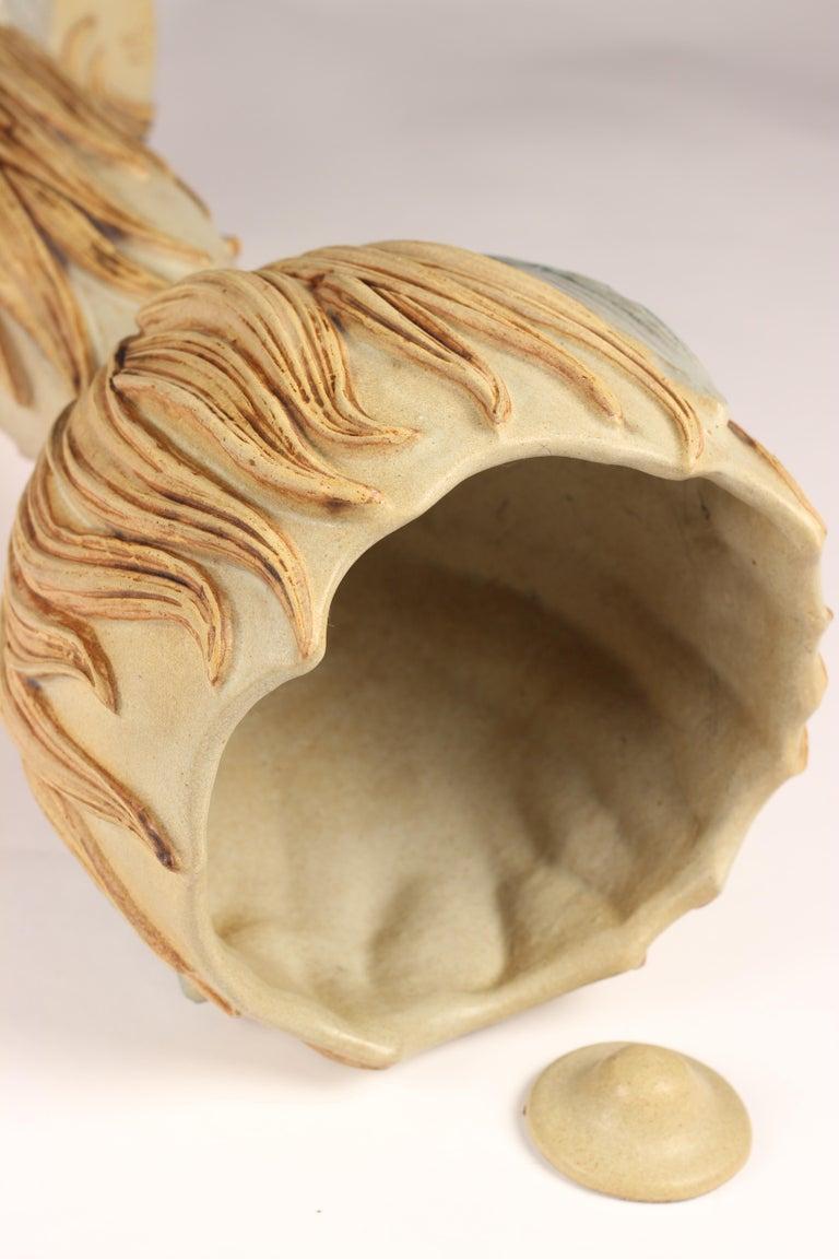 Midcentury Ceramic Jardinière by Bernard Rooke For Sale 4