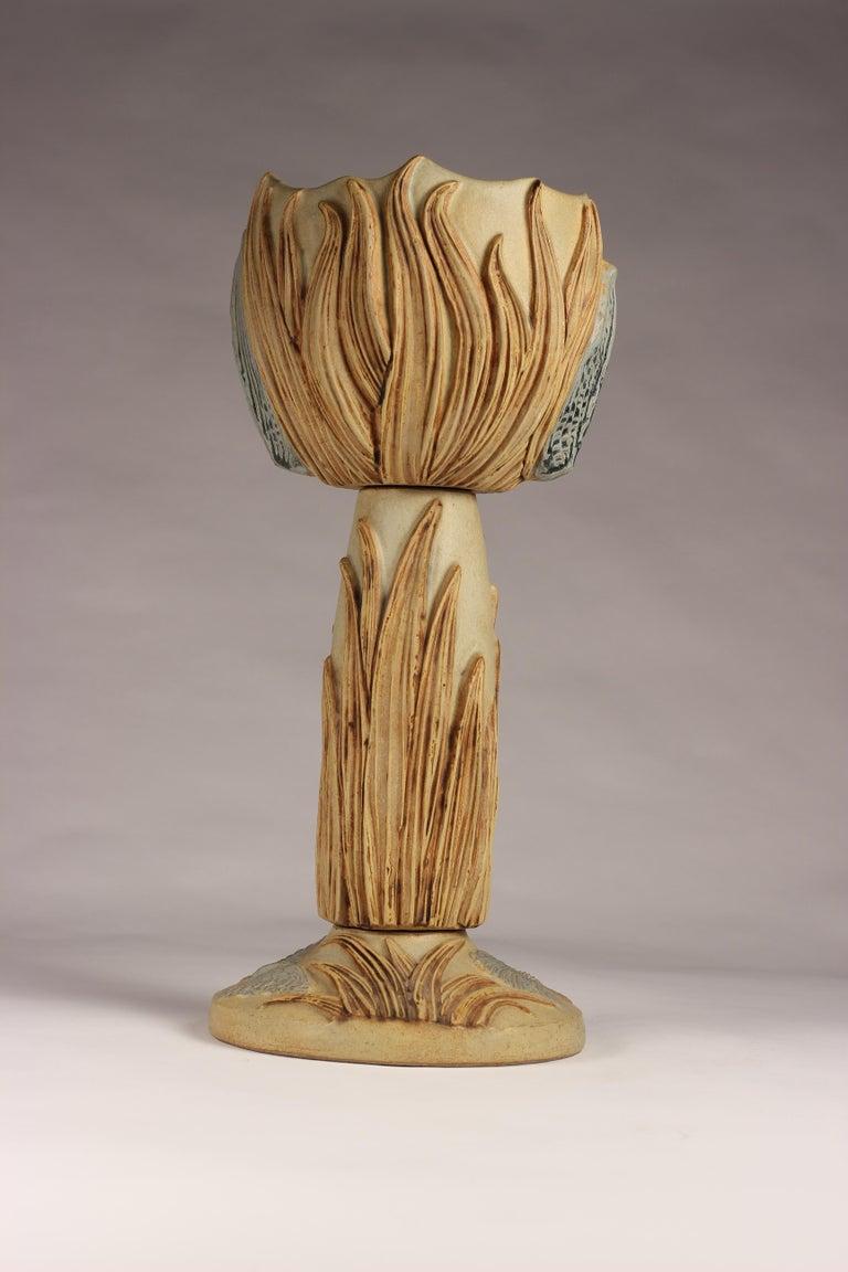 English Midcentury Ceramic Jardinière by Bernard Rooke For Sale