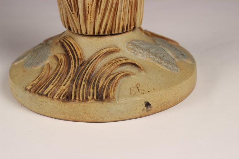 Clay Midcentury Ceramic Jardinière by Bernard Rooke For Sale