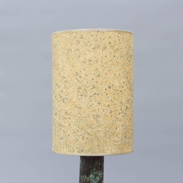 Mid-century Bluish-Green Ceramic Lamp, circa 1960s For Sale 4