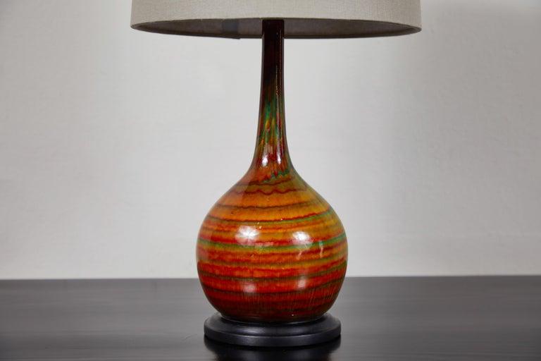 American Midcentury Ceramic Lamp For Sale