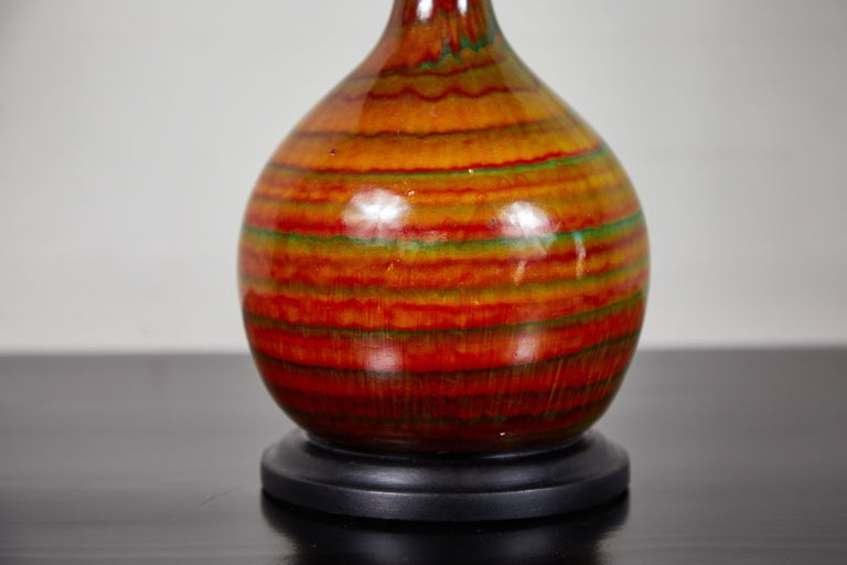Hand-Crafted Midcentury Ceramic Lamp For Sale