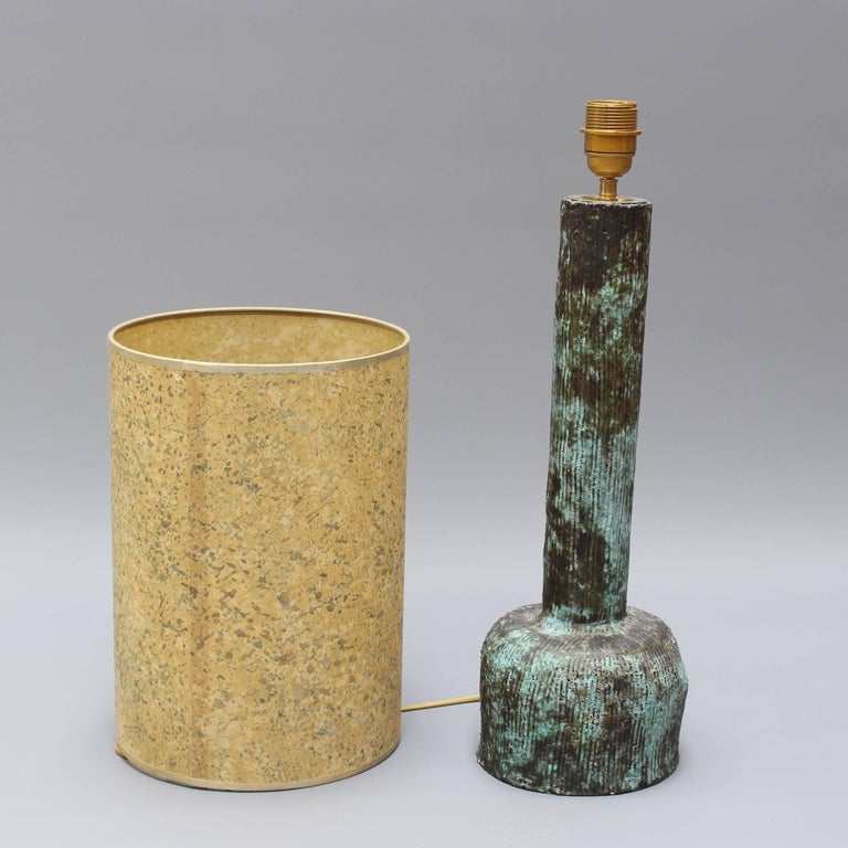 Mid-20th Century Mid-century Bluish-Green Ceramic Lamp, circa 1960s For Sale