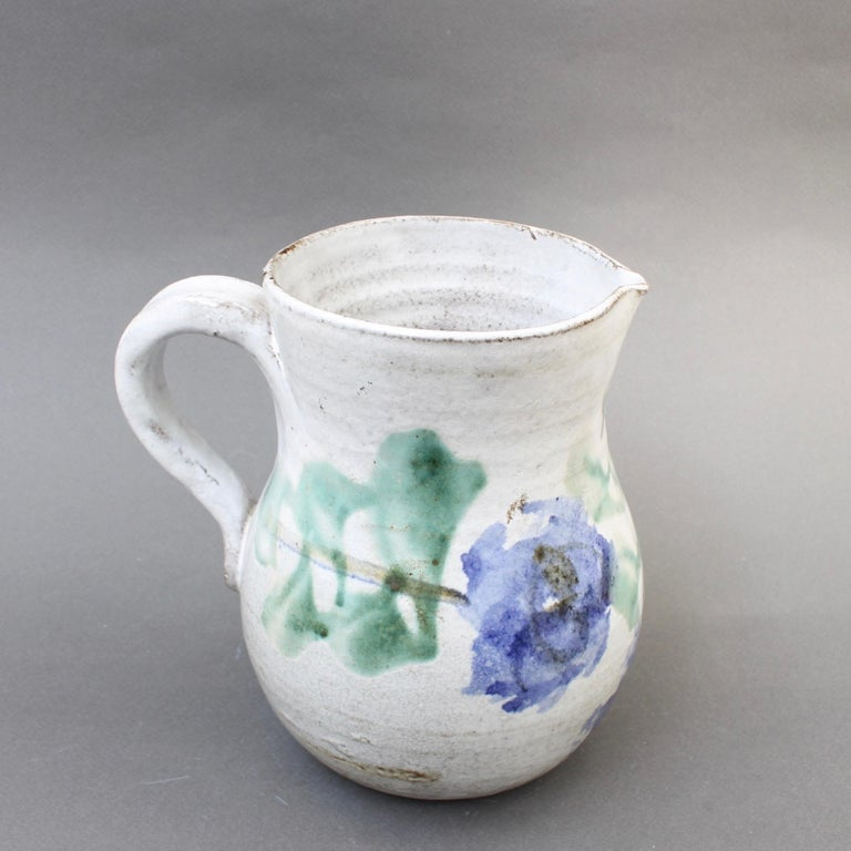 Japonisme Midcentury Ceramic Pitcher by Albert Thiry, 'circa 1960s' For Sale