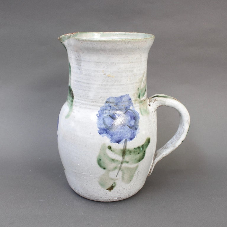 French Midcentury Ceramic Pitcher by Albert Thiry, circa 1960s For Sale