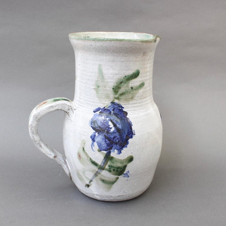 Midcentury Ceramic Pitcher by Albert Thiry, circa 1960s In Good Condition For Sale In London, GB