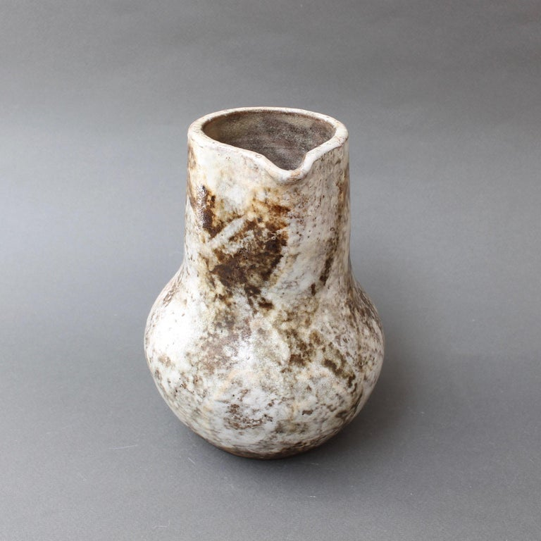 Midcentury Ceramic Pitcher by Alexandre Kostanda, circa 1960s For Sale 4