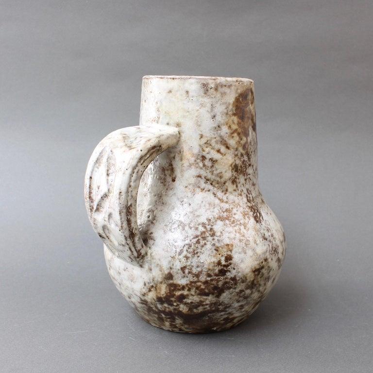 Mid-Century Modern Midcentury Ceramic Pitcher by Alexandre Kostanda, circa 1960s For Sale