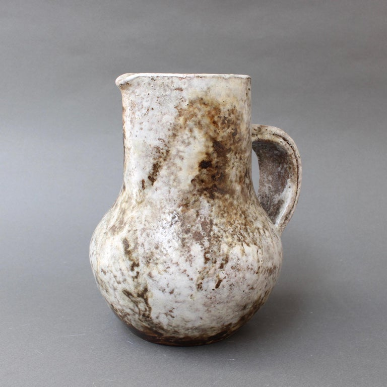 Mid-20th Century Midcentury Ceramic Pitcher by Alexandre Kostanda, circa 1960s For Sale