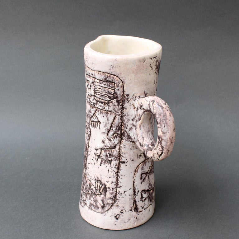 Midcentury Ceramic Pitcher by Jacques Blin, 'circa 1950s' For Sale 5