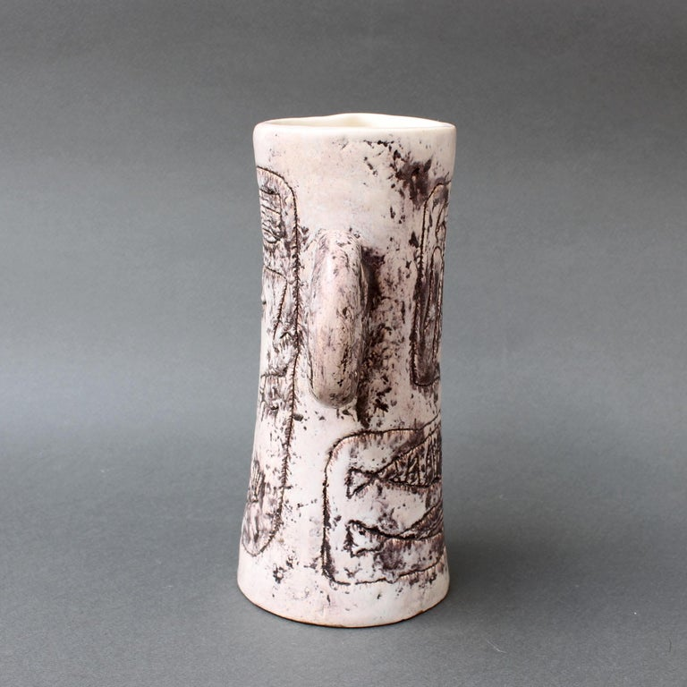 French Midcentury Ceramic Pitcher by Jacques Blin, 'circa 1950s' For Sale