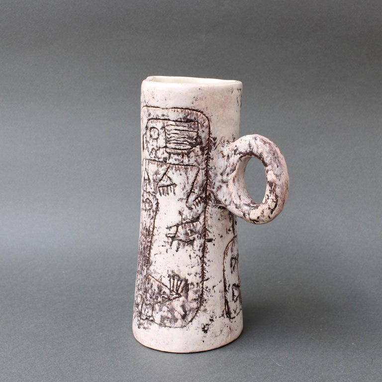 Midcentury Ceramic Pitcher by Jacques Blin, 'circa 1950s' In Good Condition For Sale In London, GB