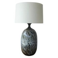 Mid Century Ceramic Studio Pottery Glazed Lamp, 1960s