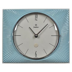 Midcentury Ceramic Sunburst Wall Clock by Junghans, 1960s, Germany