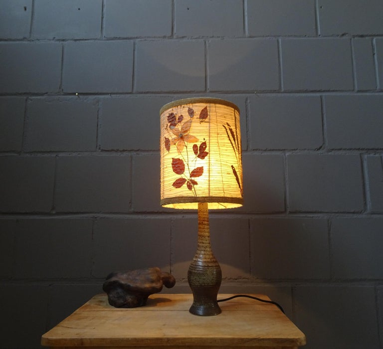 Midcentury Ceramic Table Lamp by Jean Tessier Vallauris, France, 1960s For Sale 2