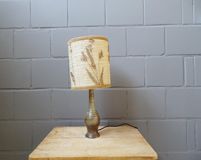 Mid-Century Modern Midcentury Ceramic Table Lamp by Jean Tessier Vallauris, France, 1960s For Sale