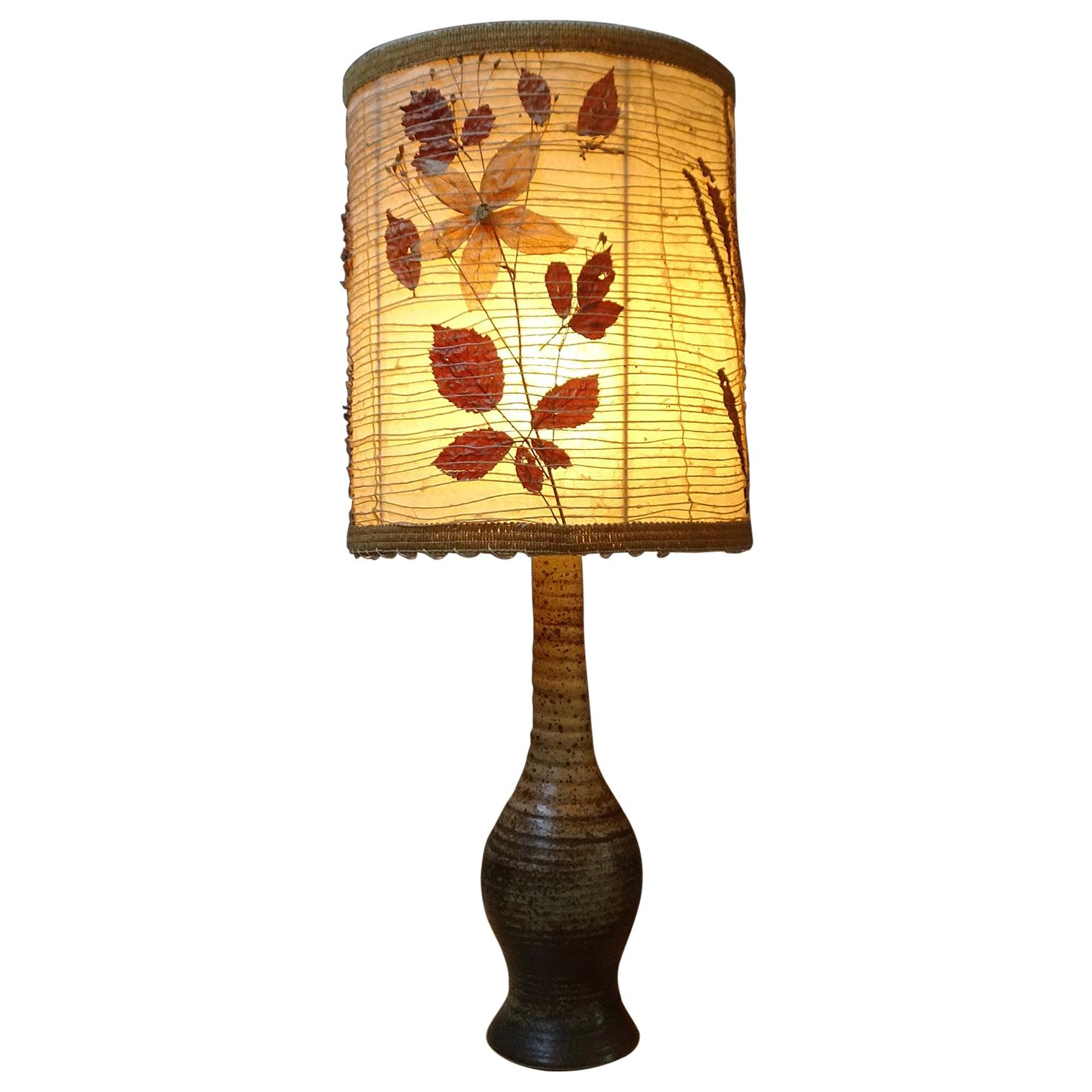 Midcentury Ceramic Table Lamp by Jean Tessier Vallauris, France, 1960s