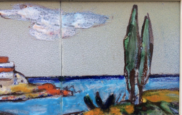Midcentury Ceramic Tiles/Wall Hanging by Marcel Giraud In Good Condition For Sale In Arles, FR