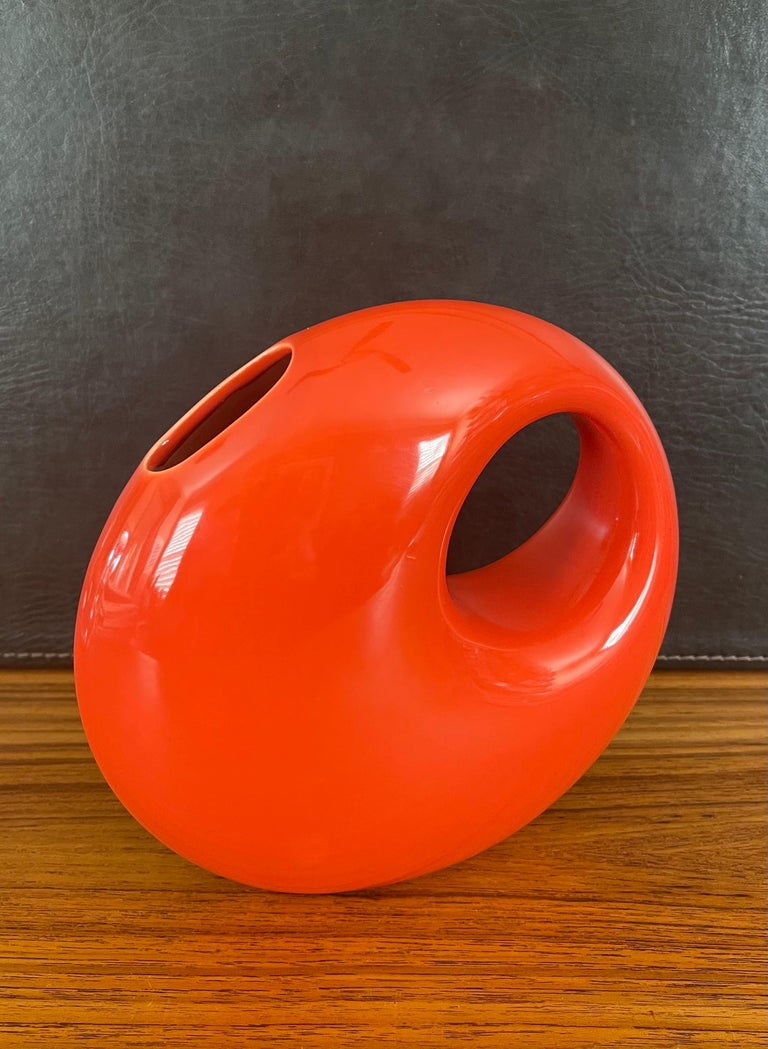 Midcentury Ceramic Vase by Les Heritiers for Roche Bobois For Sale 4