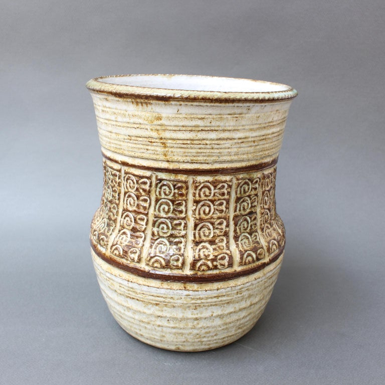 French Midcentury Ceramic Vase by Marcel Giraud, circa 1960s For Sale