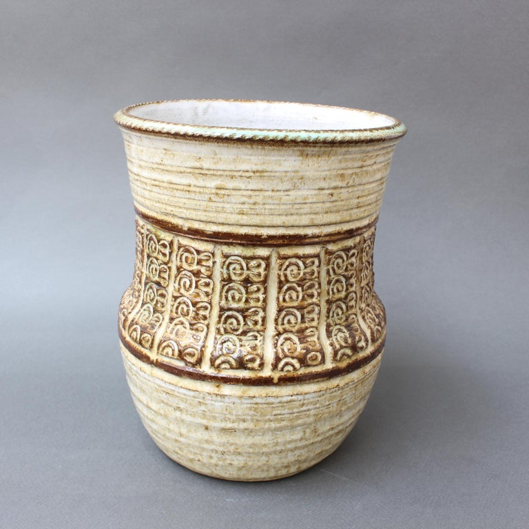 Midcentury Ceramic Vase by Marcel Giraud, circa 1960s In Good Condition For Sale In London, GB