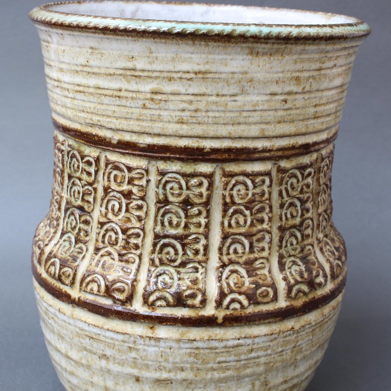 Mid-20th Century Midcentury Ceramic Vase by Marcel Giraud, circa 1960s For Sale