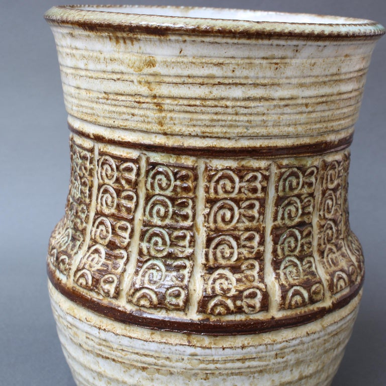 Midcentury Ceramic Vase by Marcel Giraud, circa 1960s For Sale 1