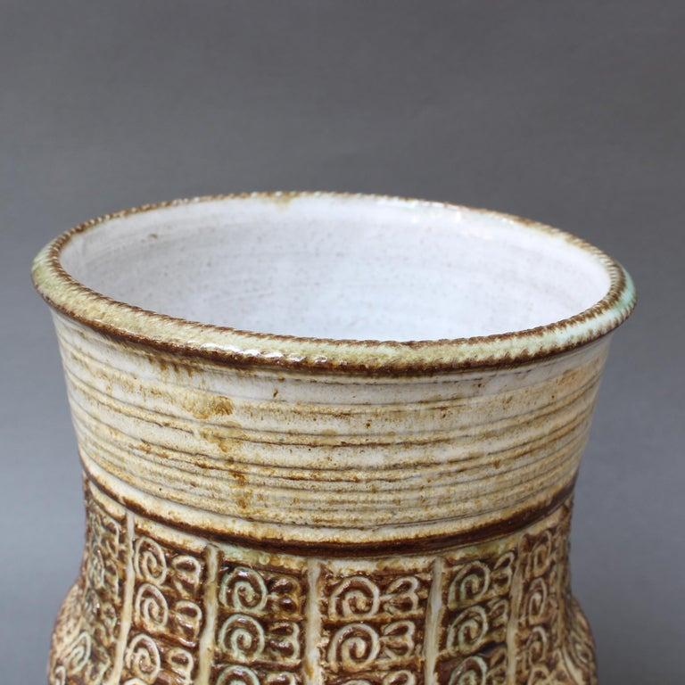 Midcentury Ceramic Vase by Marcel Giraud, circa 1960s For Sale 2
