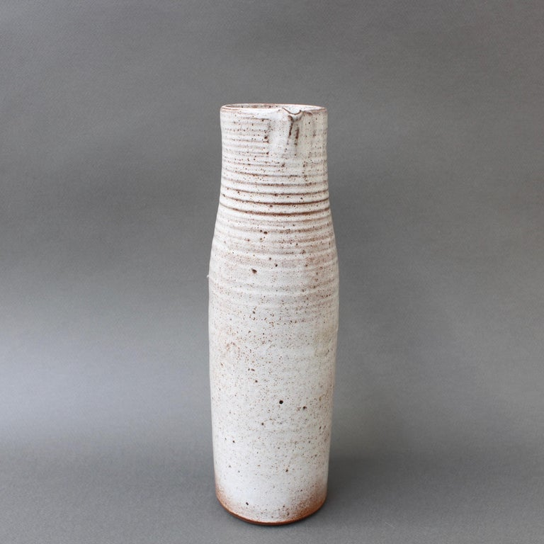 Glazed Midcentury Ceramic Vase / Jug by Jeanne & Norbert Pierlot, circa 1960s For Sale